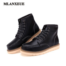 Autumn And Winter New Men's Boots Fashion Retro Martin Boots Leisure High Help Men's Boots Plus Cotton Keep Warm Martin Boots