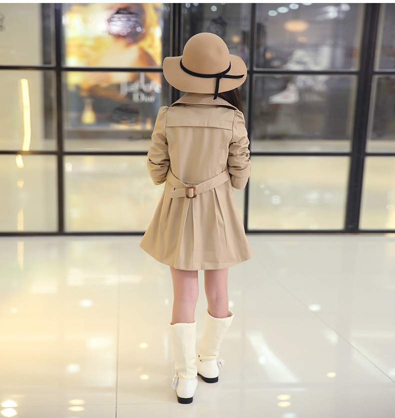 b5e696556c15 Girls Trench Coats Double Breasted Jackets For Girls Clothing ...