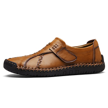 Luxury Design Sneakers Men Genuine Leather Shoes Flat Slip On Loafers High Quality Casual Shoes Men Moccasins Male footwear