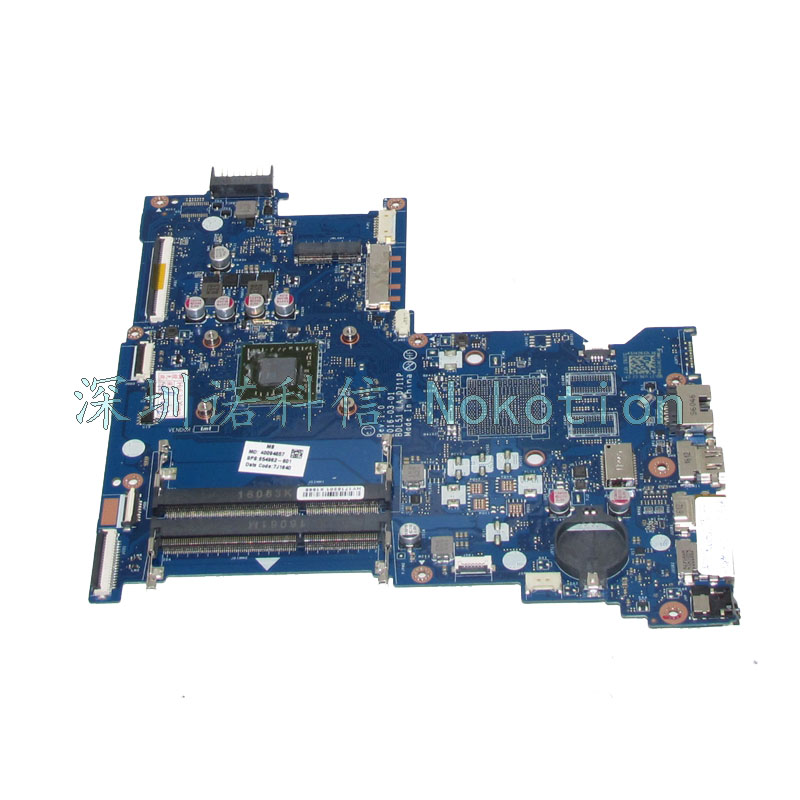 NOKOTION 854962-601 DBL51 LA-D711P Laptop motherboard for HP Notebook 15-BA Series A8-7410 CPU Mainboard Works original laptop motherboard abl51 la c781p 813966 501 for hp 15 af mainboard full test works