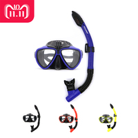 AILLOMA Camera Scuba Diving Mask Snorkel Set Silicone Equipment With Full Dry Snorkel Swimming Snorkeling Anti Fog Goggles