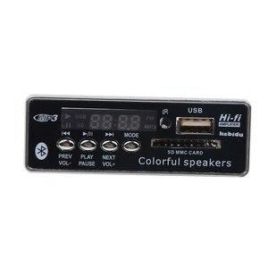 Image 4 - Автомобильный Bluetooth MP3 плеер kebidu с громкой связью, 12 В, встроенный MP3 декодер, плата модуля, USB FM Aux радио с дистанционным управлением