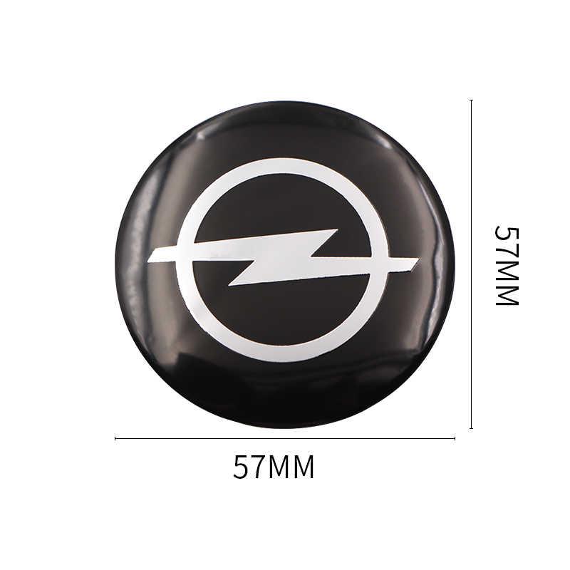 Autocollants de capuchon de moyeu central de roue de style de voiture de 4 pièces 56.5mm emblèmes pour Opel astra opel astra h astra g insignia Opel mokka voiture