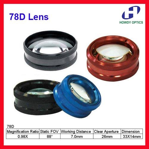 78D high quality Aspheric lens ophthalmic slit lamp retina lens