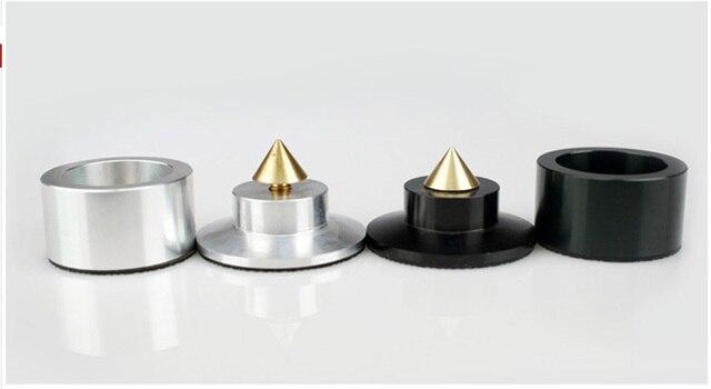 4 pièces en Aluminium noir et argent antichoc pointe + support disolation