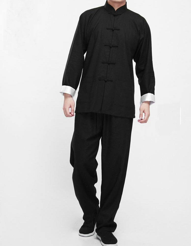 Uniforme Clássico jaqueta + calça - wing chun - jeet kune do - tai chi - roupa de artes marciais kung fu chinês tradicional 3