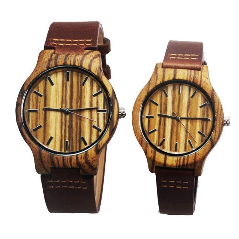 Hot selling Zebra font b Wooden b font font b Watches b font For font b