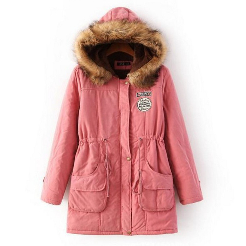Autumn Winter Female Cotton-padded Clothes Leisure Women Parka  Women's Clothing Slim  Warm  Cotton Coat Jacket  Womens Jackets lovely autumn winter lover cotton padded women