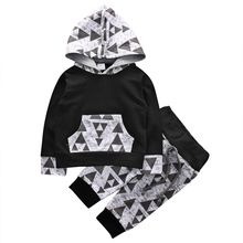 Autumn Newborn Baby Boys Girls Clothing Sets Long Sleeve Hoodies T-shirt Tops Pants Toddler Kids Baby Boys Outfits Clothes Set