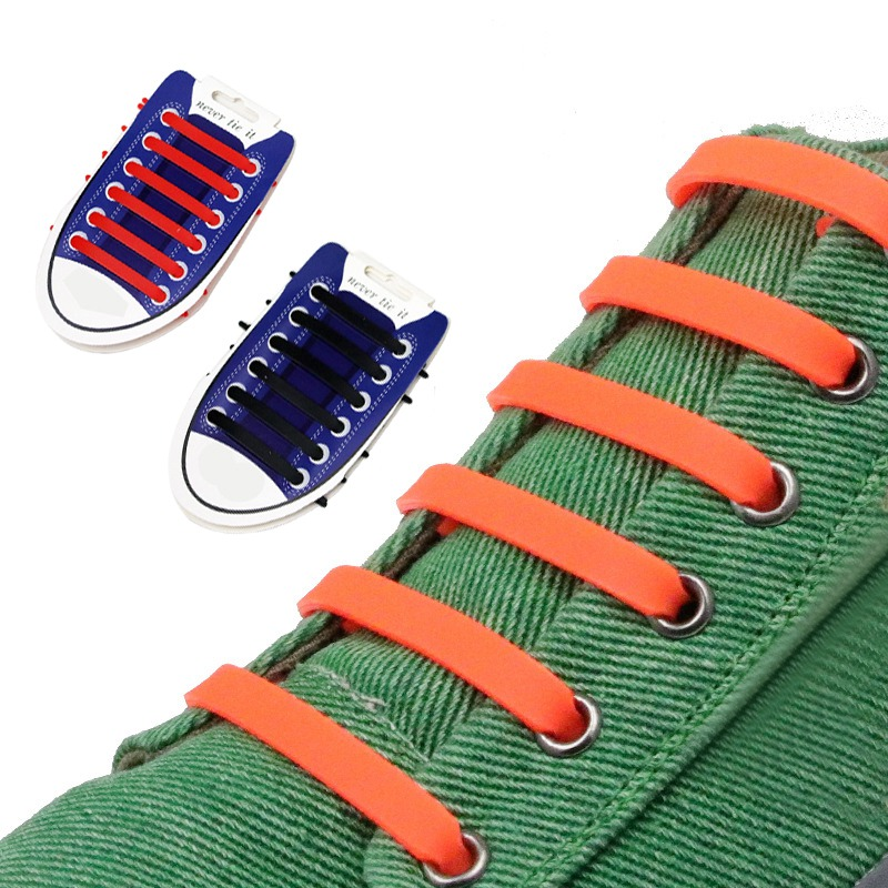 No Tie Shoelaces Practical Fashion Men Women Lazy No Tie Shoelaces Elastic Silicone Shoelaces for Unisex Canvas Shoes 12 Colors fashion tiger shape 10cm width wacky tie for men