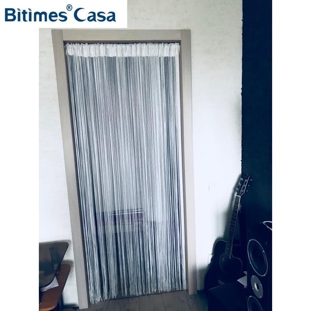 Einfarbig W100l200cm String Vorhang Linie Vorhang Tur Aufhanger