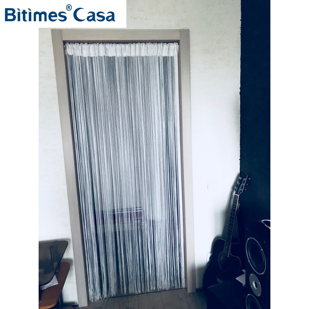 Solid Color W100L200CM String Gardin Line Gardin Door Hanger Gardin Rum Divider Window Blind Valance Home Decoration