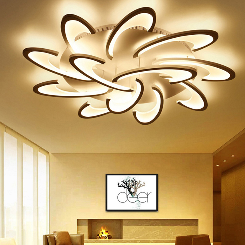 Remote control led ceiling light with acrylic Ultra thin ceiling for room fitting recessed ceiling lamps