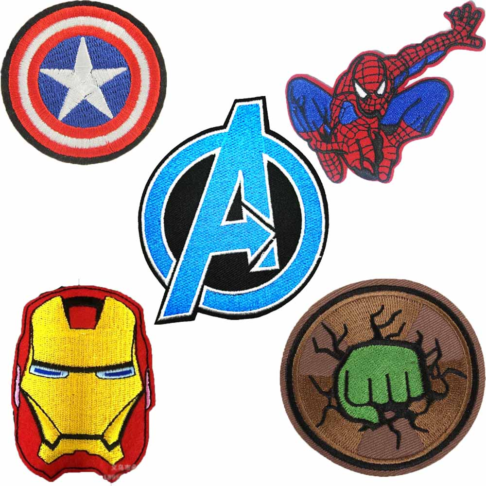 Avengers Deadpool Kids Hulk Superhero Captain America Iron On Patch Clothes Patch Patch