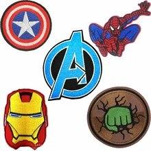 Мстители, Дэдпул, детская одежда, Халк, Бэтмен, супергерой, Капитан Америка, нашивка с железной вышивкой, одежда для мальчиков