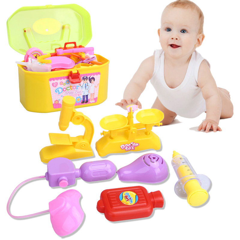 New font b Baby b font toys Doctor Play sets Simulation Medicine Box Doctor Toys Stethoscope