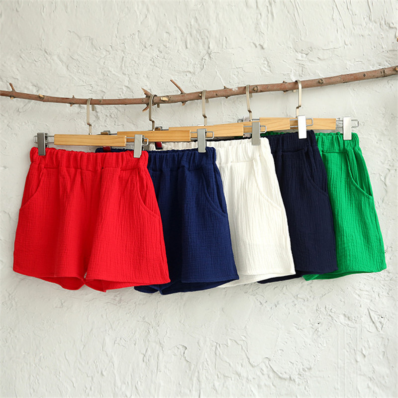 2020 New Summer Casual Cotton Linen Short High Waist Shorts Femininos Women Workout Shorts Plus Size M-6XL Black Red  Blue Brown