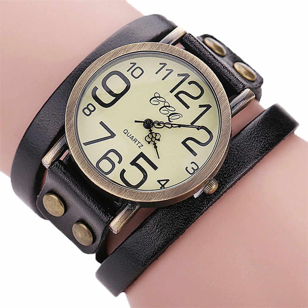 Relogio Masculino 2018 mężczyźni luksusowa marka Vintage skóra bydlęca bransoletka zegarek kwarcowy panie sukienka bransoletka kwarcowa zegar #0517