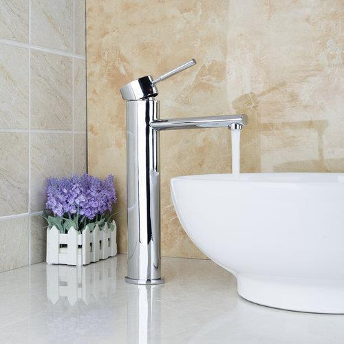 8302 Single Lever Soild Brass Chrome Finish Stream Tall Bathroom Wash Basin Sink +Hose Mixer Tap Faucet