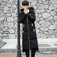 2017 Winter New Korean Style Male Long Oversize Thickening Self-cultivation Clothes Coat X-long Men Outerwear Parkas