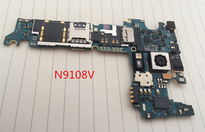 100%Working~Unlocked Original Motherboard For Galaxy NOTE 4 N9108V Motherboard Clean IMEI Free shipping