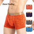brand sexy patchwork brand mens boxers elasticity cotton breathable fashion men's sexy underwear underpants 6088