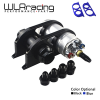 WLR 44mm&60mm Dual Double Billet Fuel Pump Filter Mounting Bracket Clamp Kit + 044 Fuel pump 0580 254 044 + Fuel filter