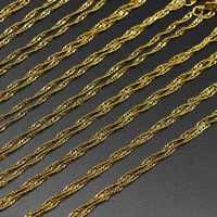 Argent or blanc K homard fermoir 12 pcs/paquet 42 cm collier eau vague chaînes charme en vrac pour bijoux à bricoler soi-même accessoires en gros