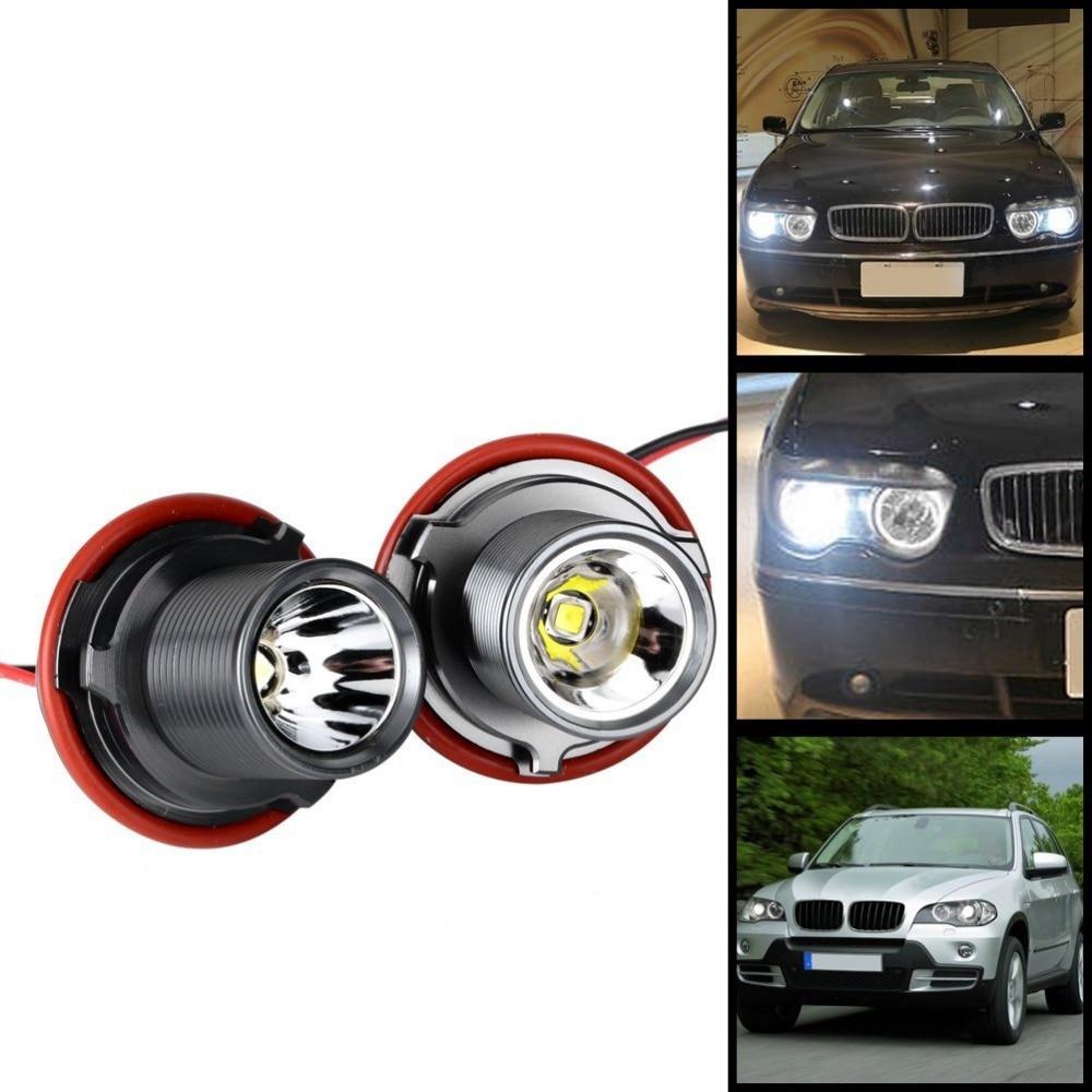 2Pcs Xenon White CREE XM-L2 Chip LED Error Free Angle Eye Halo Ring Marker Light Bulb with Ballast for BMW E39 E60 E61 E63 E65 brand new 7000k led angle eyes halo xenon marker ring light bulb canbus for bmw e39 e53 e60 e61 e63 e64 e65 e66 x5