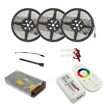 3PCS 5M SMD5050 Non-waterproof LED Strip Light+2.4G RF Remote Controller+Lighting Transformer Kit