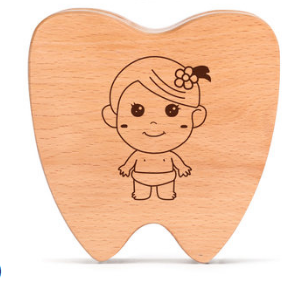Купить с кэшбэком Wooden Design Girl Boy Tooth Organizer Boxes Baby Tooth Storage Box Organizer Milk Teeth Collect Box Teeth Collection Case Z753
