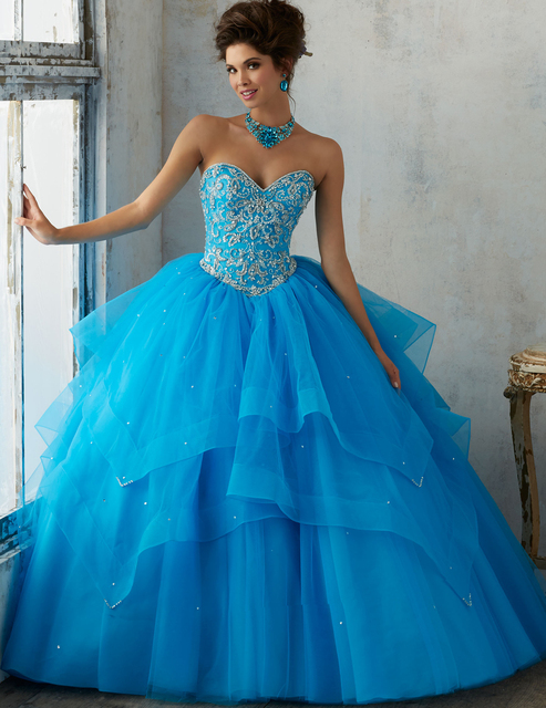 144c9f91a2 Debutante Gowns Custom Made Burgundy/Blue Sweetheart Sequined Ball Gown  Tulle Quinceanera Dresses Vestidos de 15 Anos-in Quinceanera Dresses from  ...