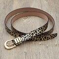 Projetistas do vintage da Cópia do Leopardo 130 cm 150 cm Plus Size Marca de Luxo Femal PU Cintos de Couro Do Punk Mulheres Tira Da Cintura de Gordura Para calças de brim
