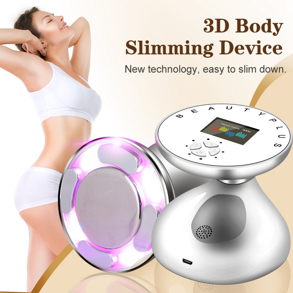 RF LED Ultrasonic Body Slimming Massager Skin Lifting Rejuvenation Fat Burner Removal Anti Cellulite Slimming Tightening Tool-in Face Skin Care Tools from Beauty & Health
