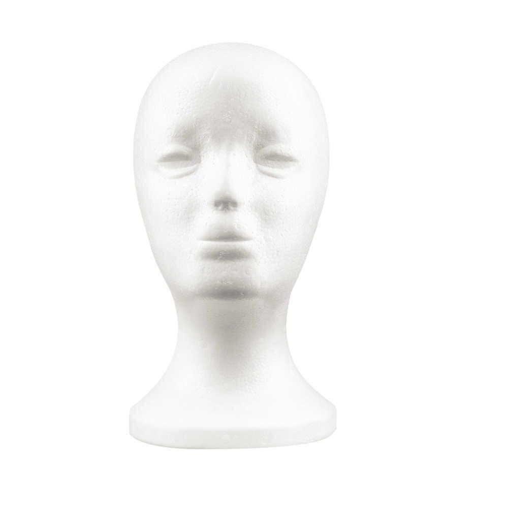 Biała kobieta styropian manekin model głowy manekina gąbka piankowa peruka okulary Cap do przechowywania nowość stojak na wystrój domu