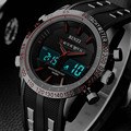 Nueva binzi marca reloj para hombre fecha día display led de lujo relojes deportivos digital cuarzo de los hombres militares reloj de pulsera relogio masculino