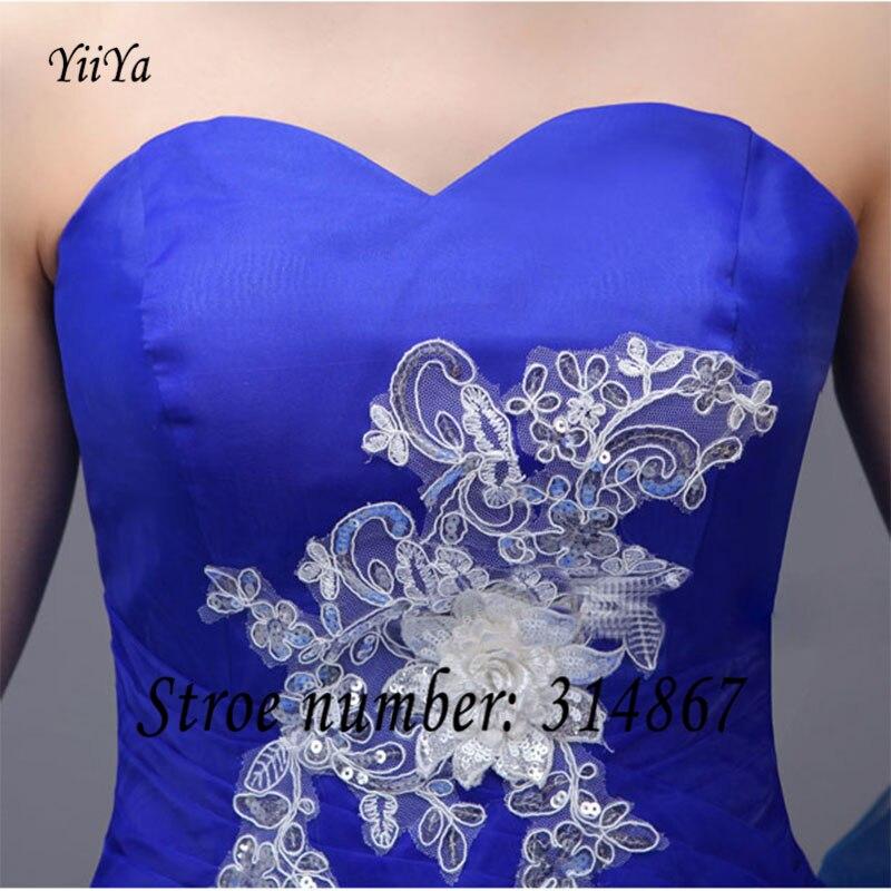 aa7e4eee22 Envío libre yiiya nueva barato blanco y azul sin tirantes de vestidos de  novia d