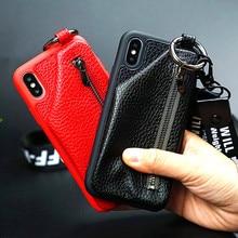 Zipper Wallet Phone Case iPhone 6 6S 7 8 Plus X