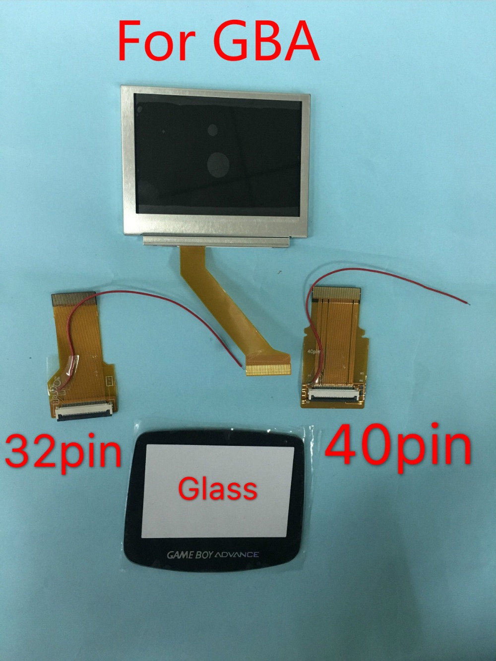 100 new For GBA SP Screen LCD OEM Backlit Brighter Highlight W Normal Motherboard Modify Part