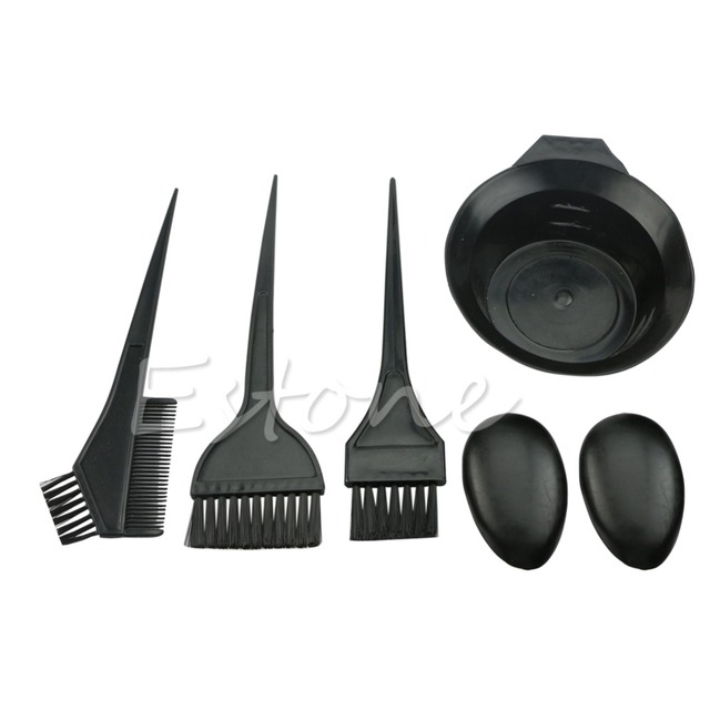 U119 1Set 5Pcs New Hairdressing Salon Hair Color Brushes Bowl Combo ...