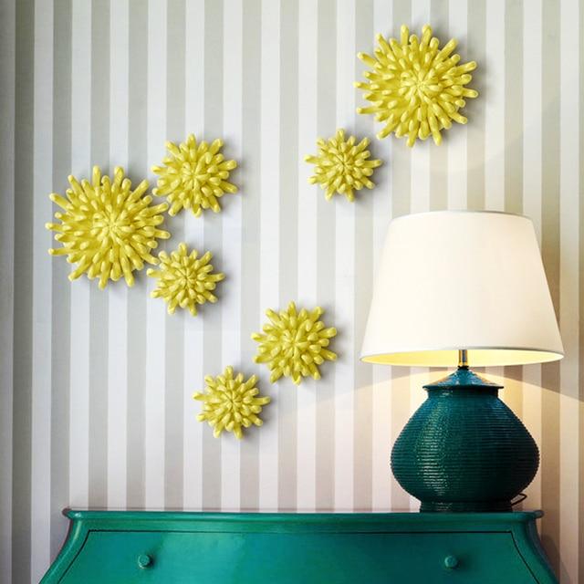 Хризантемы украшения стены Керамика цветок Творческий дом Интимные аксессуары Гостиная стены кулон стены Стикеры