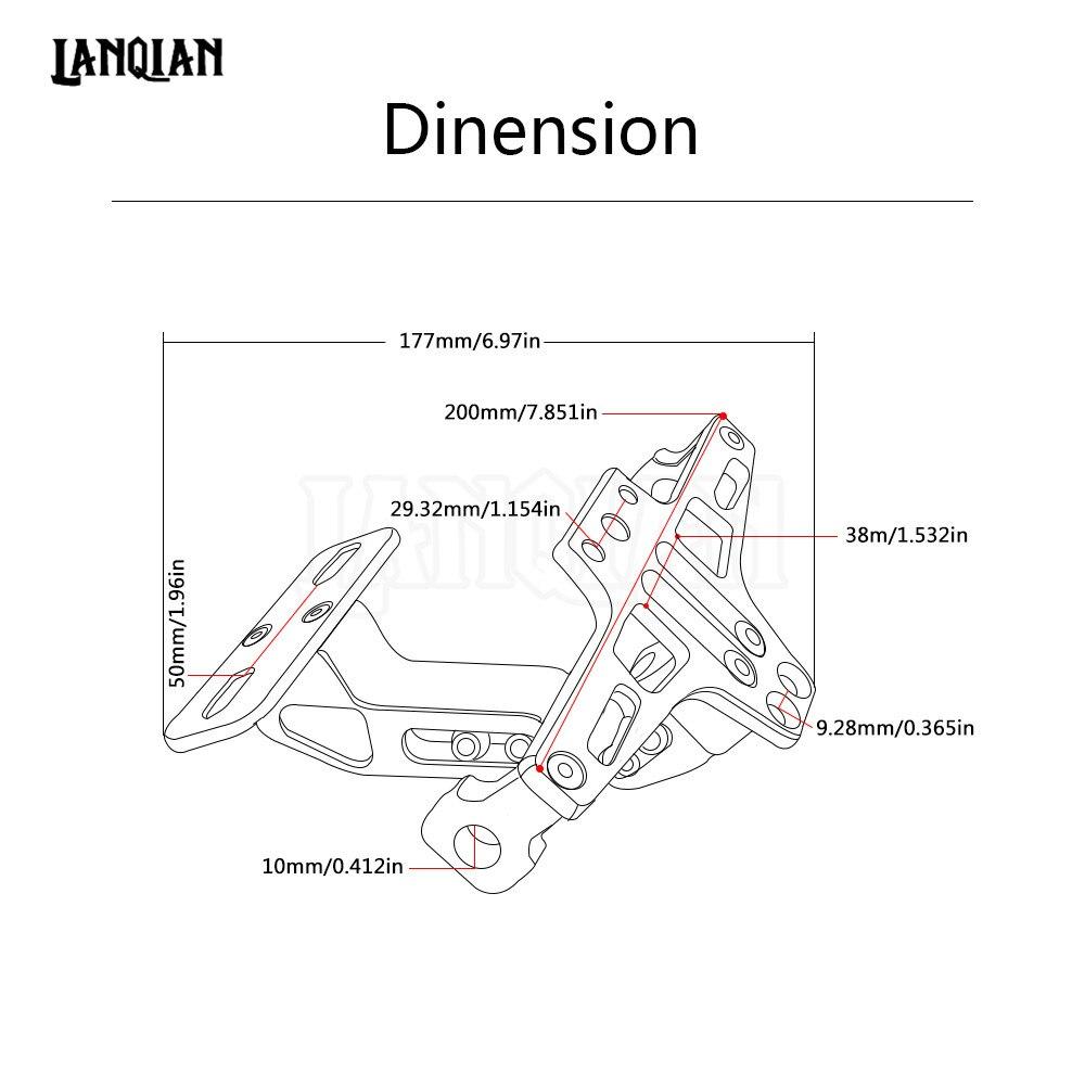 Schwarz Motorrad License Nummernschild Rahmen Halterung Halter ...