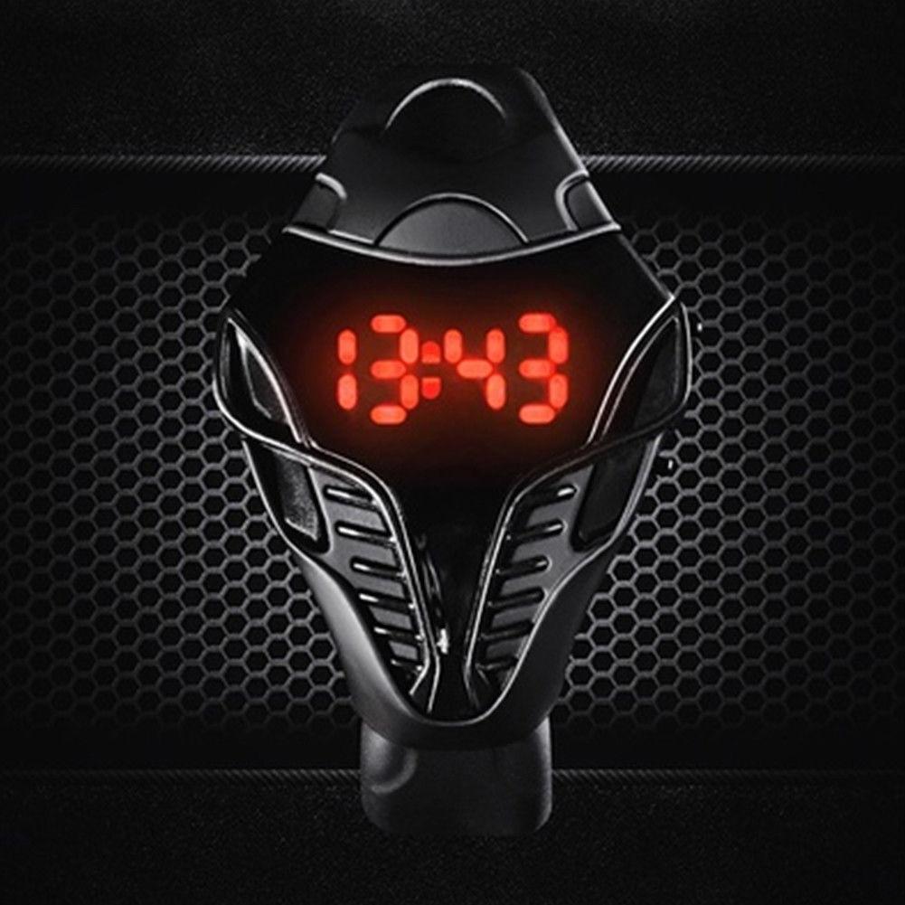 Silicone Sport Gift Cool Reminder Digital Watch Wristwatch Fashion Valentine's Day Led Children Triangle Dial Calendar Unisex