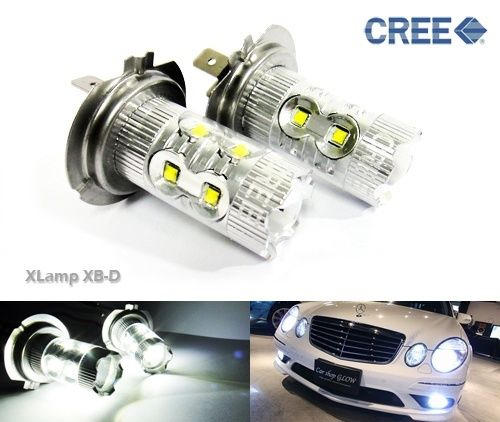 2x H15 Bulb CREE LED 80W HeadLight Daytime Light Euro DRL Golf Caddy Transporter(CA210)