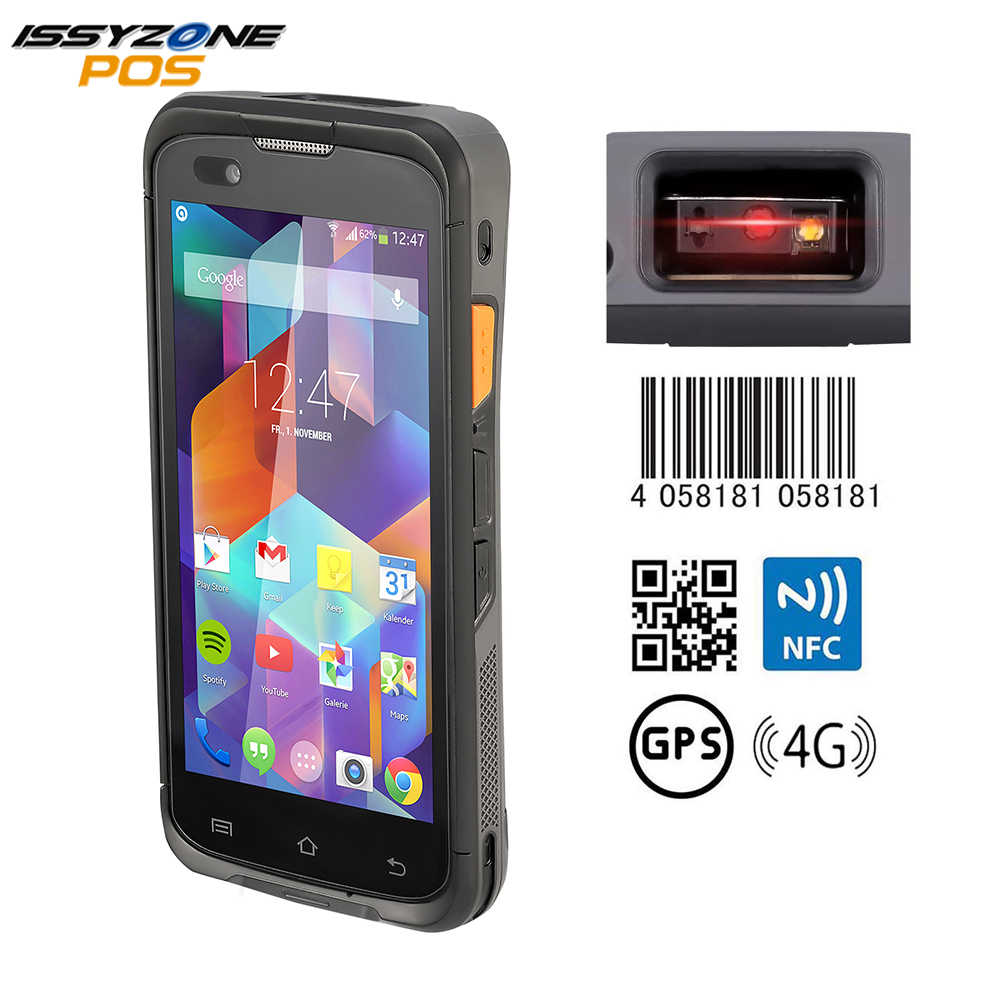 Issyzonepos Robuuste Android 7.1 Pda Handheld Pos Terminal Zebra 4710 Barcode Scanner 2D Nfc 4G Wifi Barcode Reader Data collector