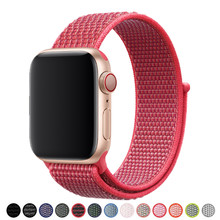 Sport Loop Smartwatch Band for Apple Watch iWatch 4 3 2 1 40mm 44mm 38mm 42mm New Colorful Wrist Bracelet Soft Nylon Strap(China)
