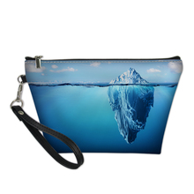 627b4b17bd60 Add to Wish List. 3D Iceberg Comestic Bag Summer Woman s Travel Makeup Bag  Creative Design Small Purse Summer Comesic Make