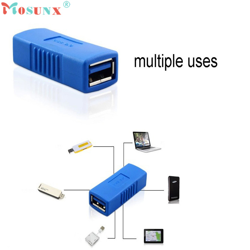 Factory price MOSUNX Hot Selling New USB 3.0 Type A Female To Female Adapter Coupler Gender Changer Connector Drop Shipping