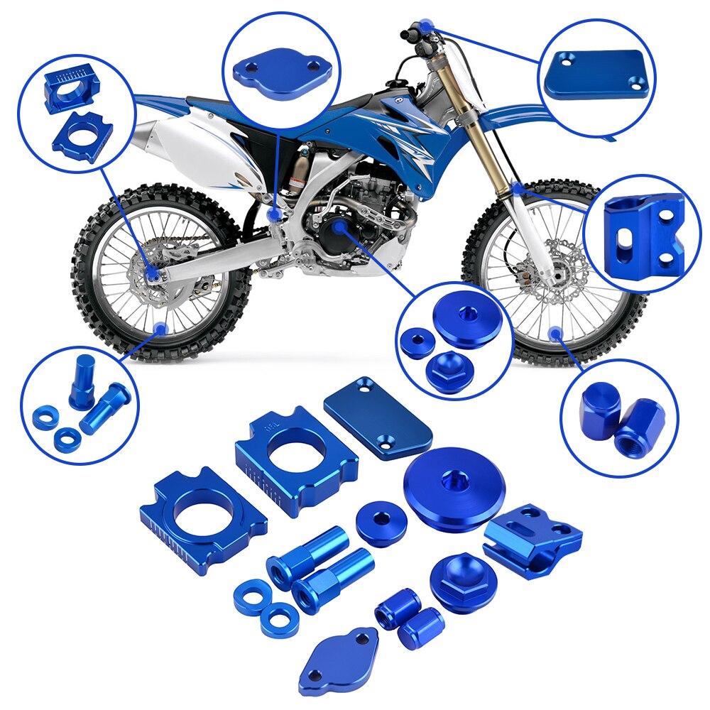 Pour Yamaha YZ250F YZ450F YZ 250F 450F 14-2018 moto Pit Bike accessoires couvercle de réservoir de frein moteur bouchon de distribution bloc d'essieu