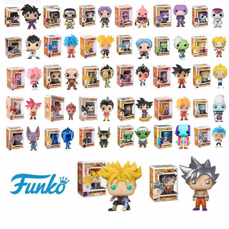 Funko Pop Japanese Anime Dragon Ball GOKU Golden Frieza Trunks Vegeta Krillin Model Toys Action & Figure Collectible Vinyl Dolls